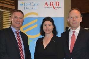 Gavin Murphy, DeCare Dental Individual Sales & Retention Manager, Maureen Walsh, DeCare Dental CEO and Paul Carty, ARB Manager