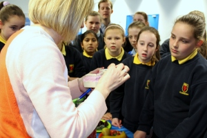 Students Get Some Tooth Brushing Tips from Dental Nurse, Noeleen Lowry