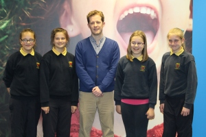 Students pictured with DeCare Customer Service Member, David Gilmartin, who taught a Junior Achiement Programme at the Convent of Mercy School