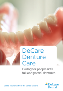 Denture brochure cover