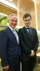 DeCare apprentice Jason Walmsley with Richard Bruton T.D.