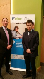 Gavin Murphy (Individual Sales Manager, DeCare Dental) with apprentice Jason Walmsley