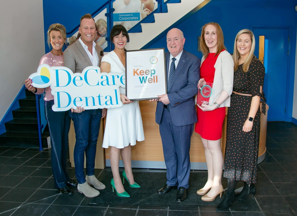 DeCare has been awarded Ibec's workplace wellness accreditation. The team is honoured to receive this accreditation and committed to ongoing collaboration in all areas of workplace wellbeing, as DeCare strives for excellence  There is a great deal of energy and focus throughout the organisation creating a culture of wellbeing.